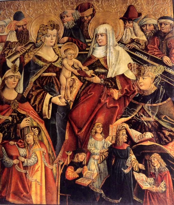 Rodzina Panny Marii, tryptyk Lublin, pocz. XVI w.