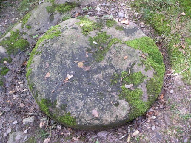 Jeden z wielu kamieni młyńskich na szczycie Tiergarten