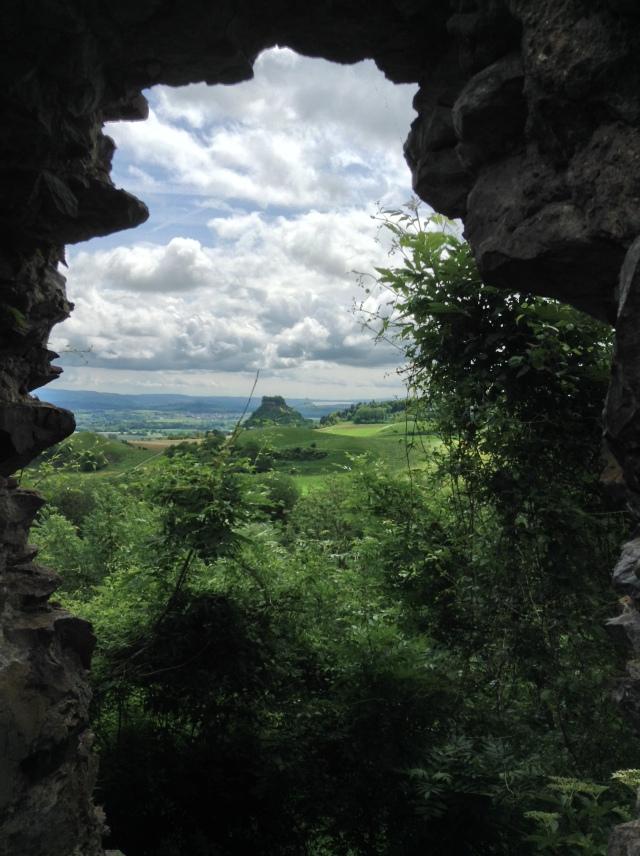 Szwabska Jura. Widok z Góry Dziewczyny czyli Magdeberg.